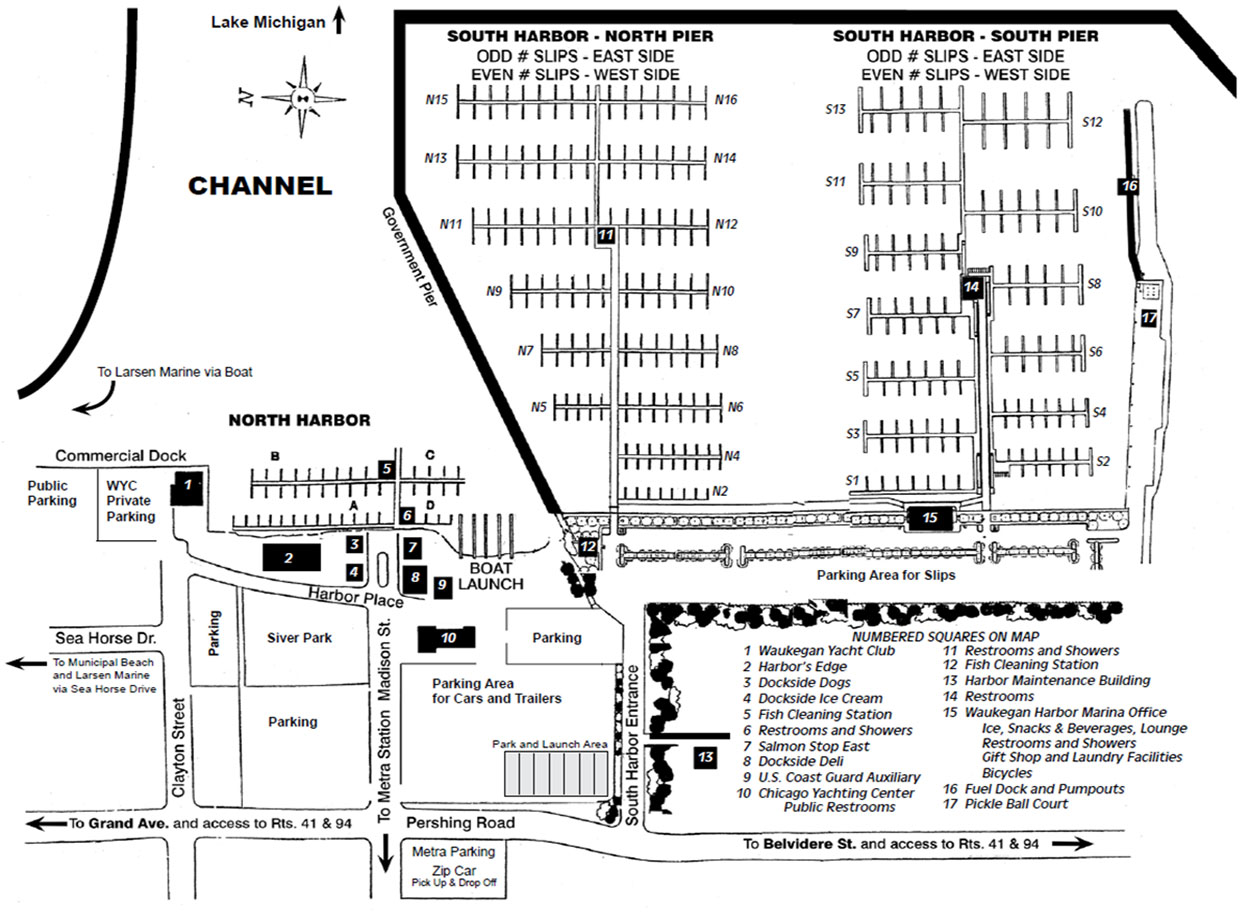 Waukegan_Marina_Slip_Number_Map